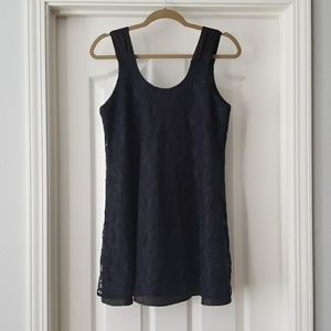 Forever 21 Dresses - Black and Navy Lace Mini Dress
